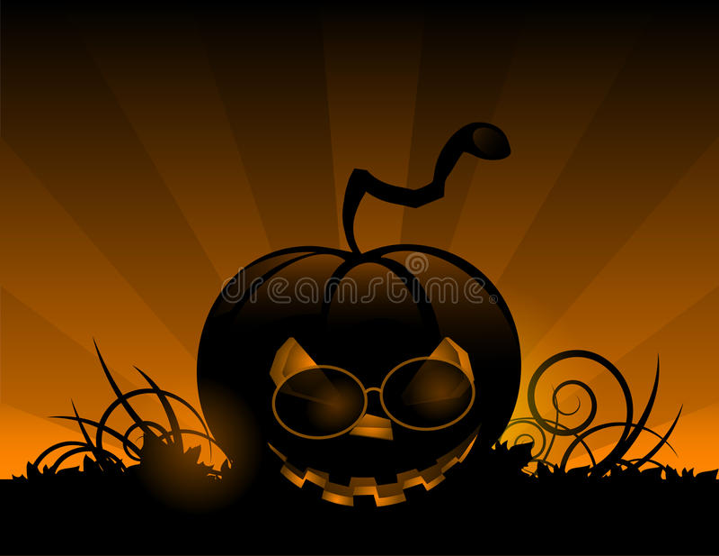 Тыква хеллоуина с предпосылкой праздника листьев бесплатная иллюстрация