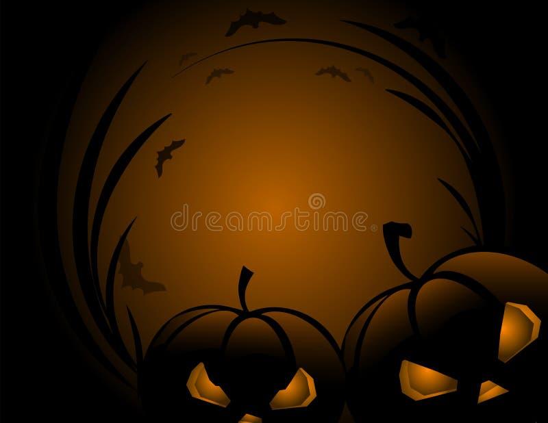 Тыква хеллоуина с предпосылкой праздника листьев иллюстрация вектора