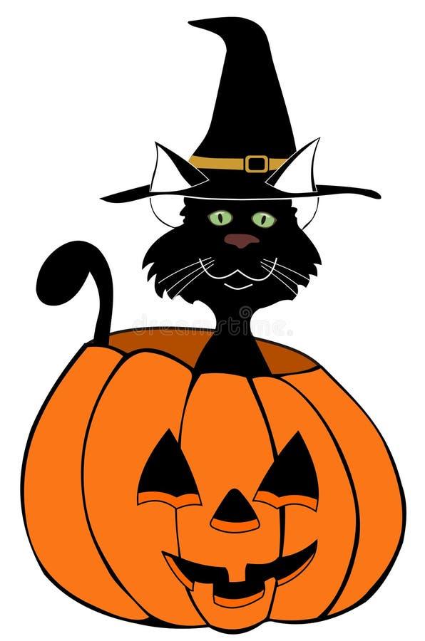 тыква черного кота бесплатная иллюстрация