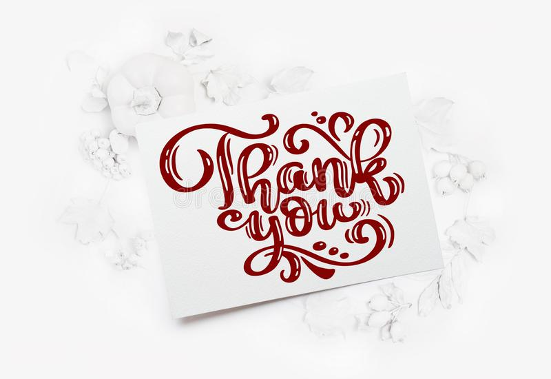 Тыква, ягоды и листья модель-макета белые на деревянной предпосылке осени Поздравительная открытка на официальный праздник в США  стоковое изображение