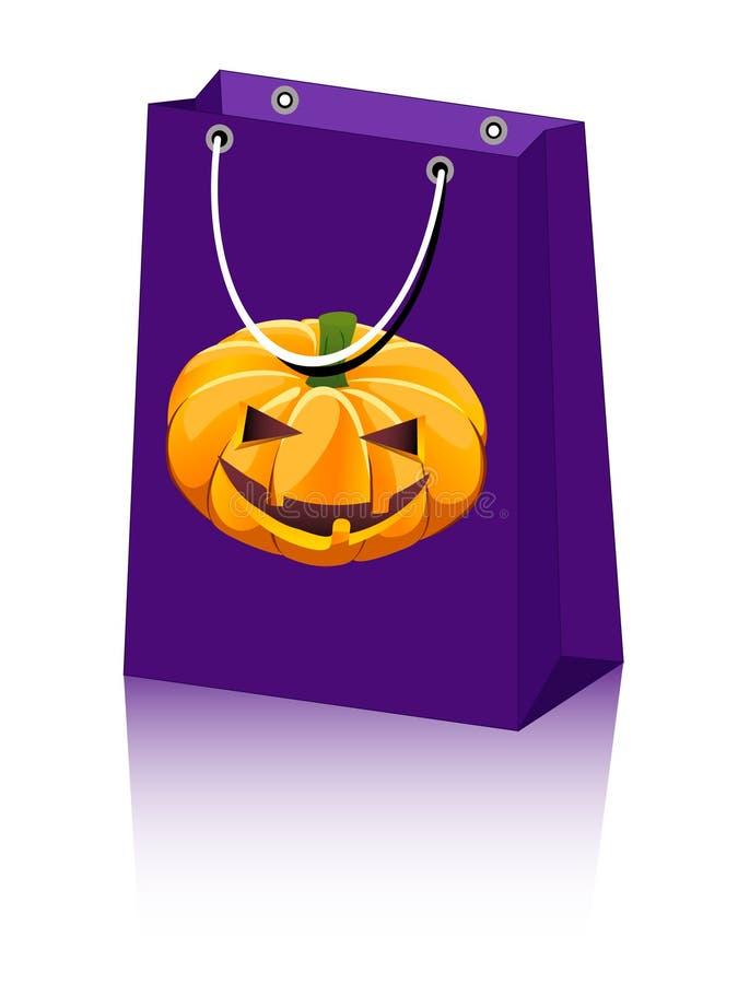 тыква halloween мешка иллюстрация штока