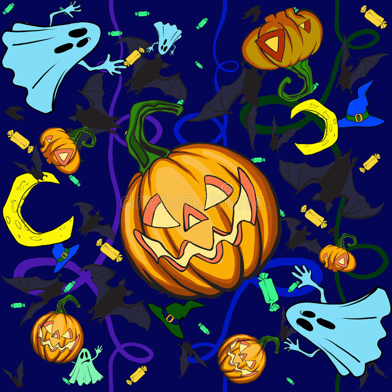 тыква halloween предпосылки иллюстрация штока