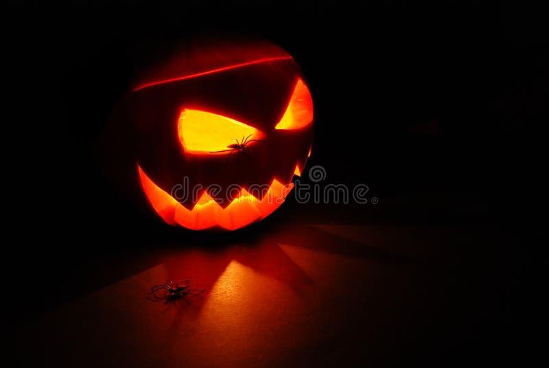 тыква jack освещенная фонариком o стоковая фотография rf