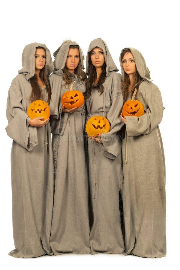 тыквы монахинь halloween стоковое фото rf