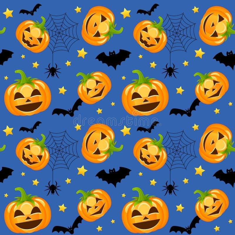 Тыквы хеллоуина безшовные иллюстрация штока