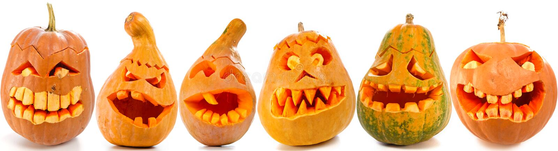 Тыквы хеллоуина стоковые изображения rf