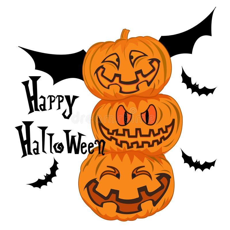 тыквы halloween счастливые стоковая фотография