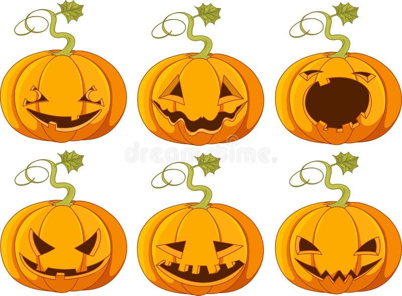 тыквы halloween иллюстрация штока