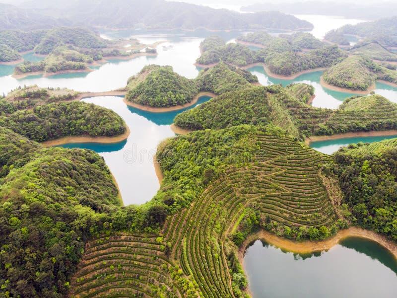 Тысяча озер и голубого пресноводное стоковое фото rf