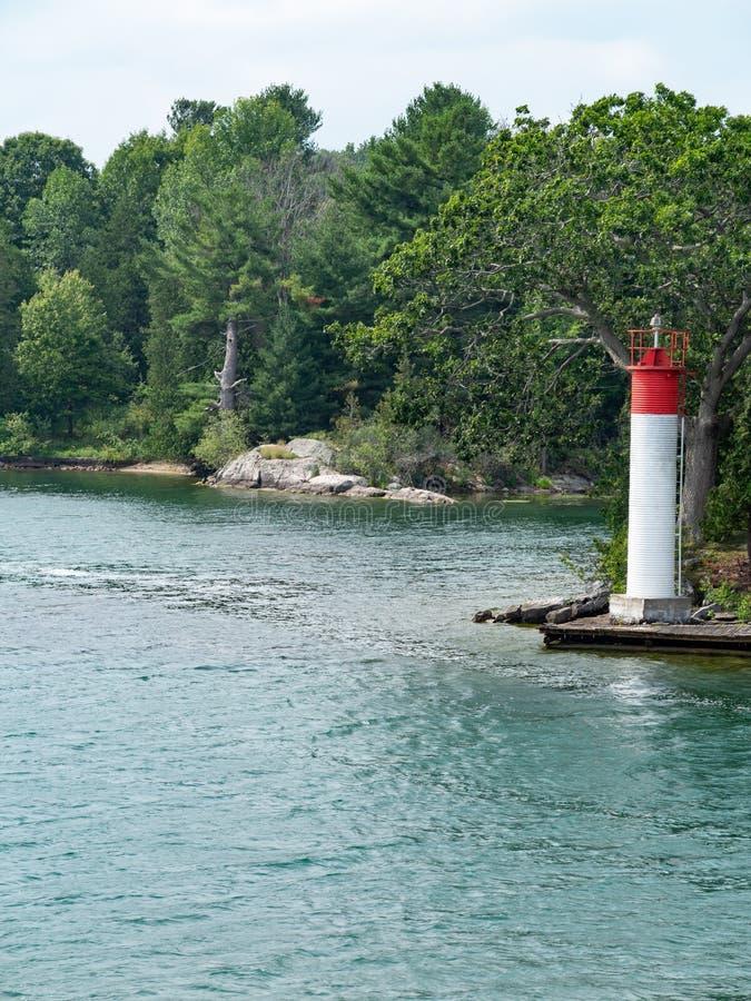 Тысяча островов около Кингстона Онтарио стоковое изображение rf