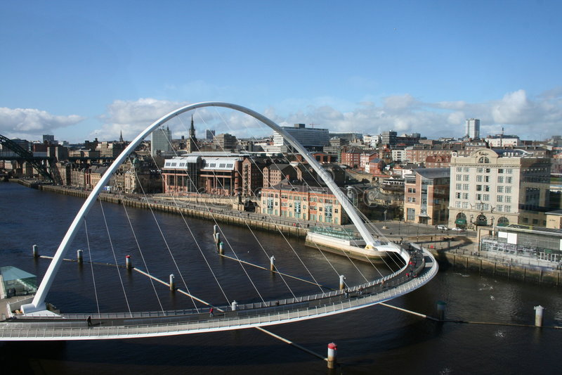 тысячелетие моста стоковая фотография