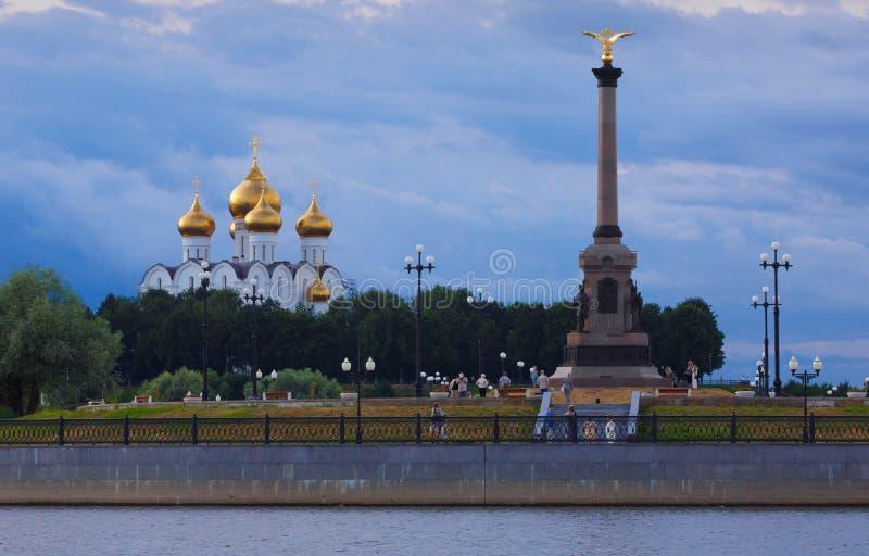 Тысячелетие памятника Yaroslavl стоковое изображение