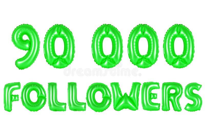 90 тысячи следующие, зеленый цвет стоковая фотография
