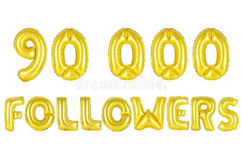 90 тысячи следующие, цвет золота стоковые изображения rf