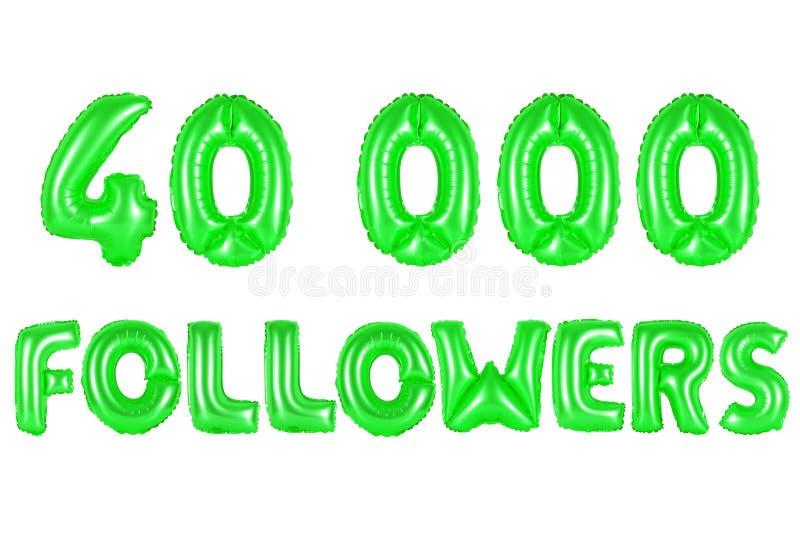 40 тысяч следующие, зеленый цвет стоковое фото rf