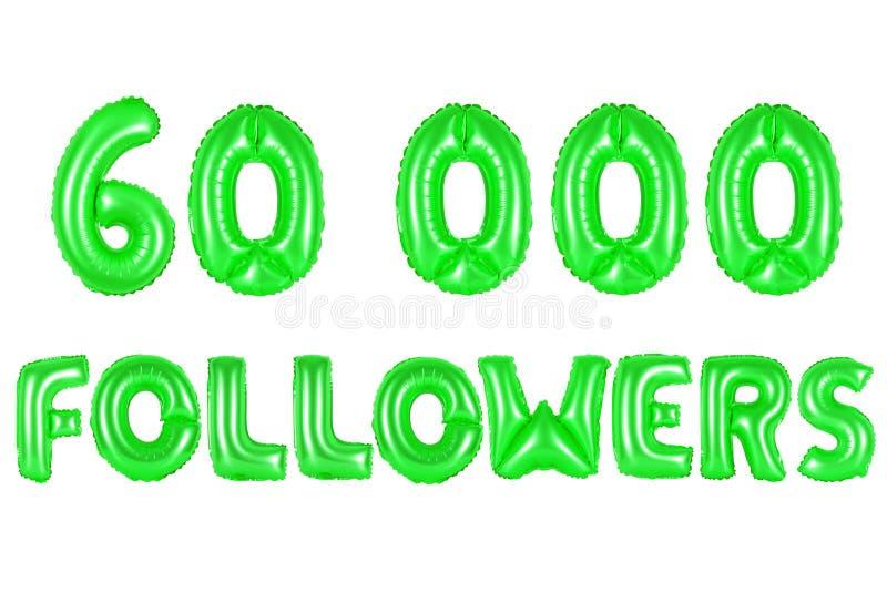60 тысяч следующие, зеленый цвет стоковое изображение rf
