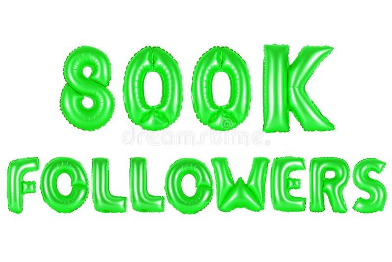800 тысяч следующие, зеленый цвет стоковые фотографии rf