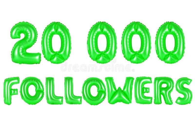 20 тысяч следующие, зеленый цвет стоковая фотография rf