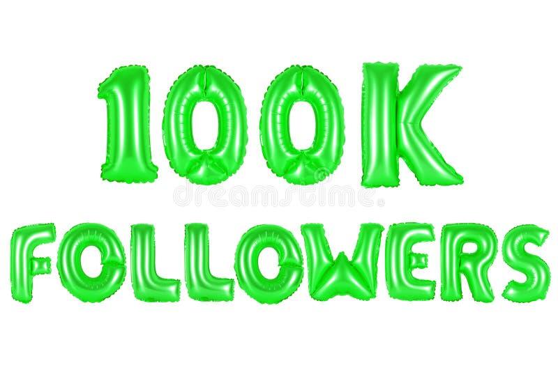 100 тысяч следующие, зеленый цвет стоковые изображения