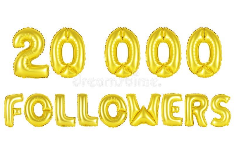 20 тысяч следующие, цвет золота стоковое изображение