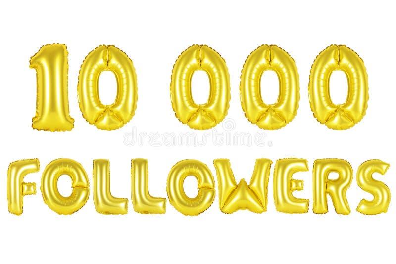 10 тысяч следующие, цвет золота стоковая фотография