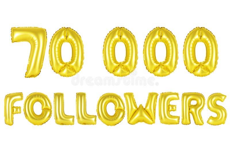70 тысяч следующие, цвет золота стоковое изображение
