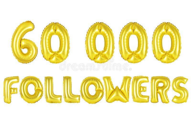 60 тысяч следующие, цвет золота стоковые фото