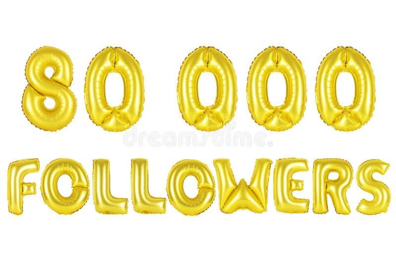 80 тысяч следующие, цвет золота стоковые изображения