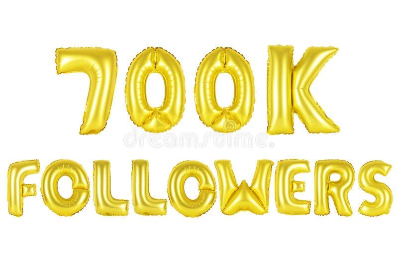 700 тысяч следующие, цвет золота стоковые изображения
