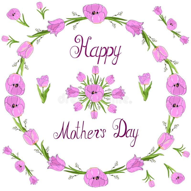 Happy mother`s day vector illustration hand draw vector illustration