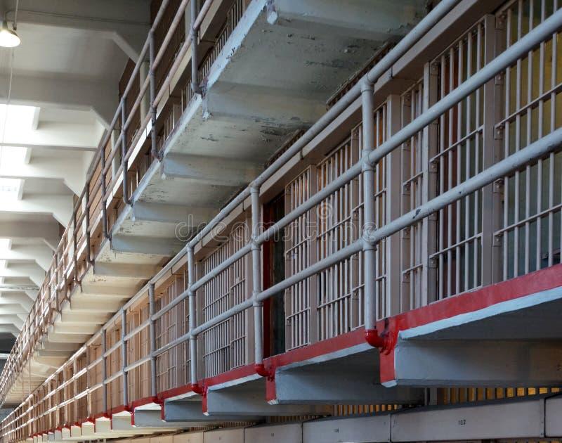 Тюремные камеры Alcatraz стоковое изображение