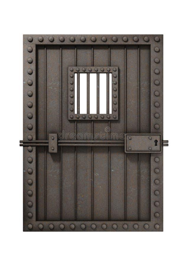тюрьма двери иллюстрация вектора