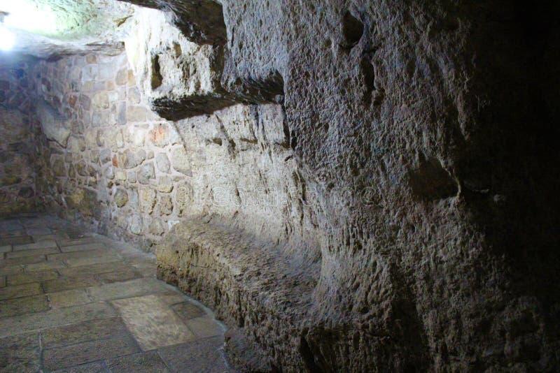 Тюрьма Иисуса Христа и Baraba, Иерусалима, Израиля стоковое изображение rf