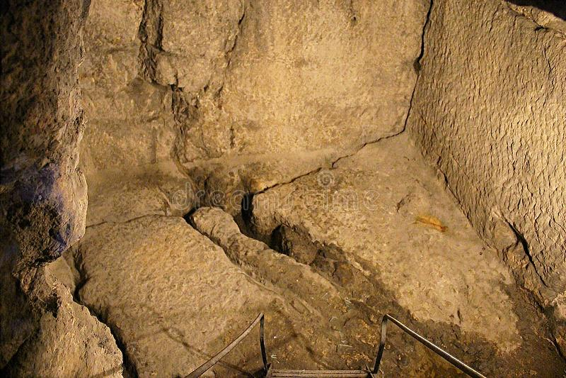 Тюрьма Иисуса Христа и Baraba, Иерусалима, Израиля стоковая фотография rf