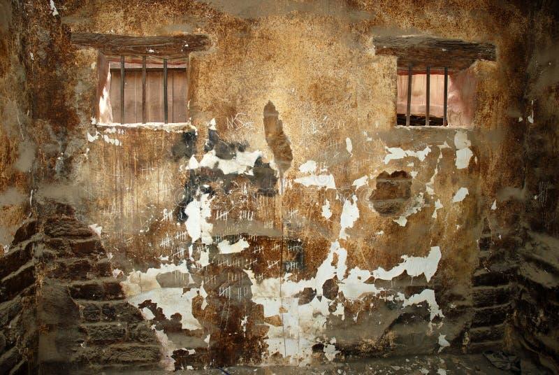 тюрьма клетки старая стоковое изображение