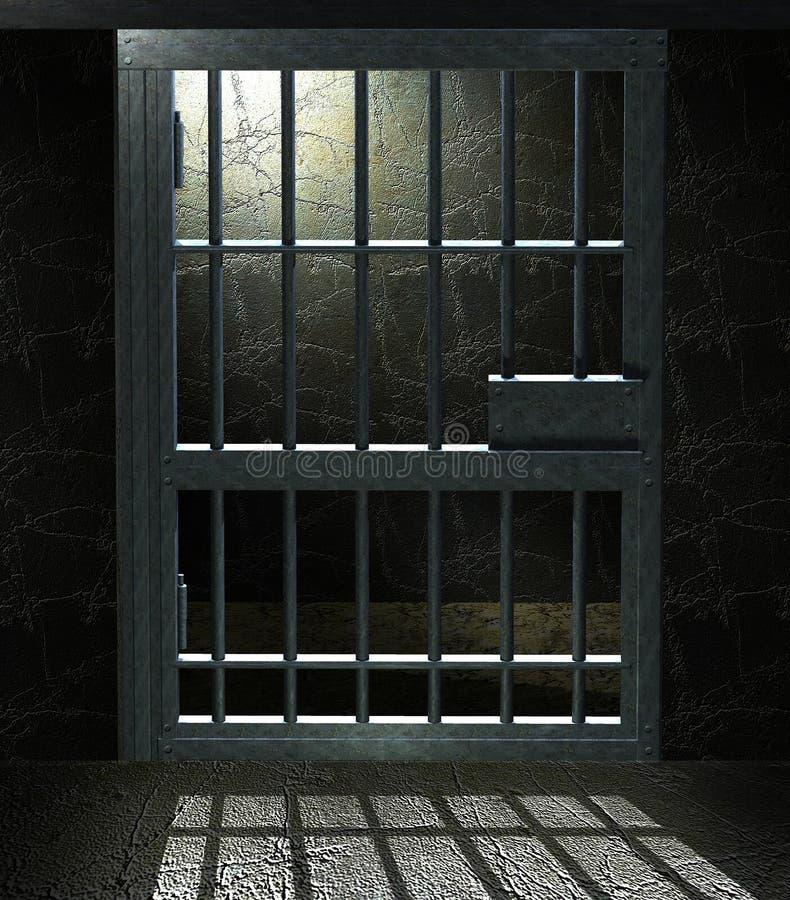 тюрьма клетки иллюстрация штока