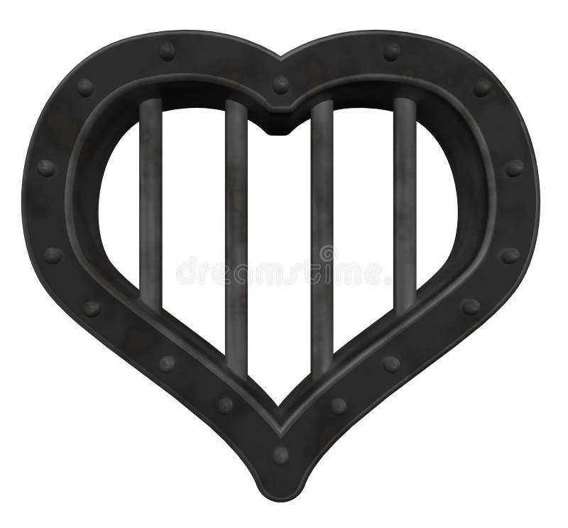 тюрьма сердца иллюстрация вектора