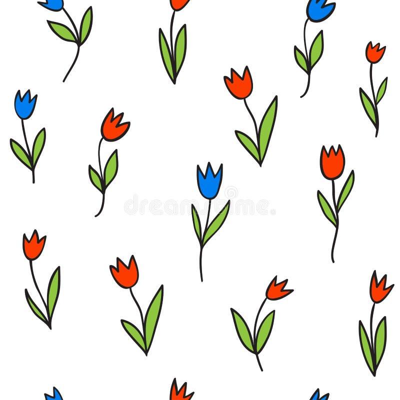 тюльпаны картины безшовные бесплатная иллюстрация