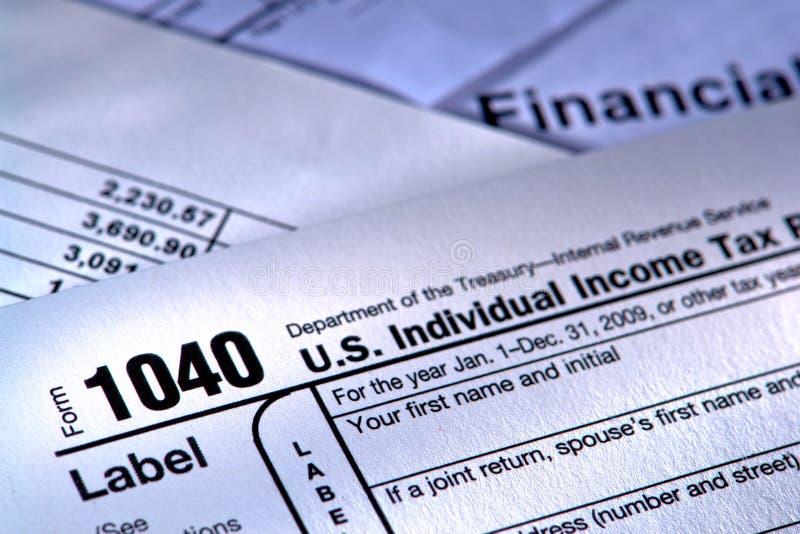 тягло налогового ведомства формы 1040 американцов стоковые изображения rf