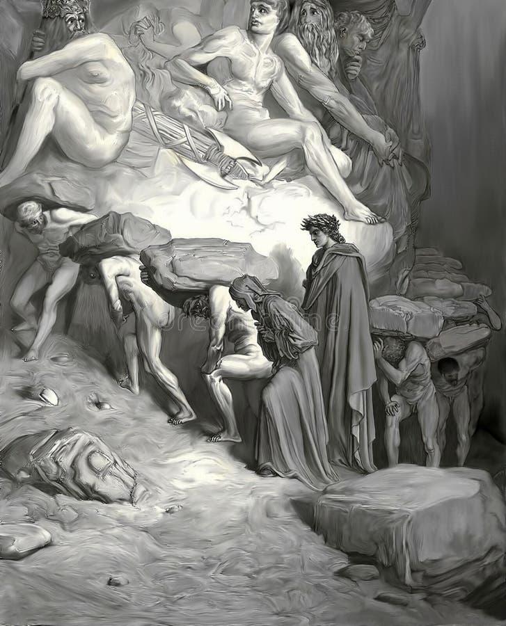 Тягота гордости ( Черно-белое ) иллюстрация штока