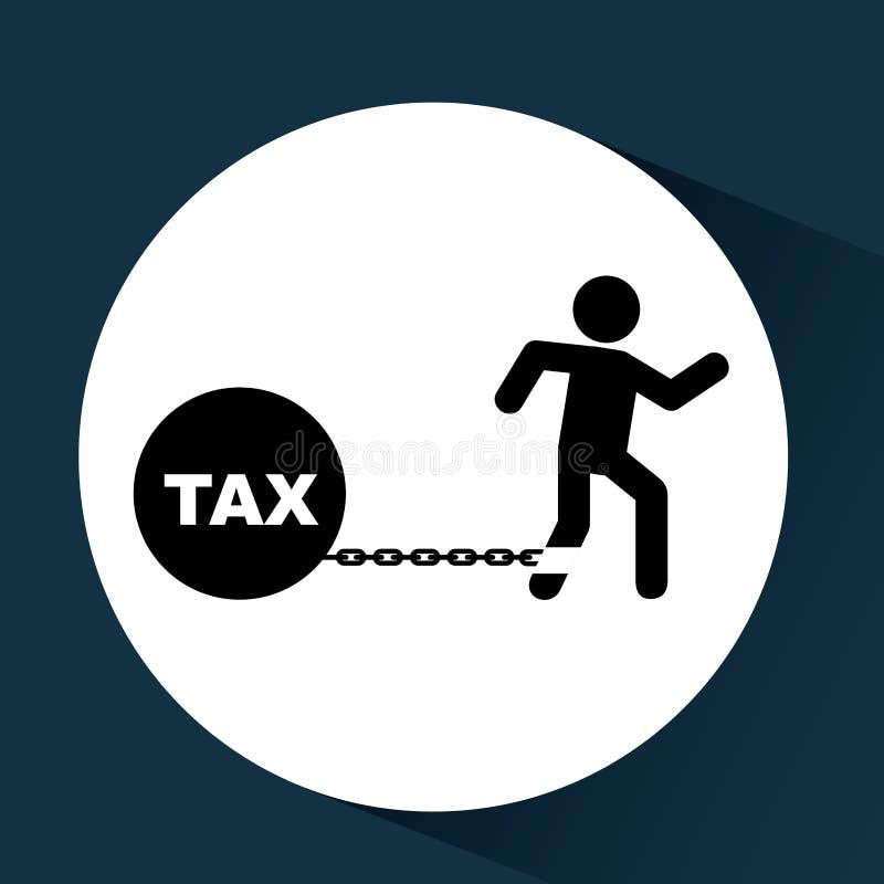 Тягота дела финансовая таксирует значок бесплатная иллюстрация