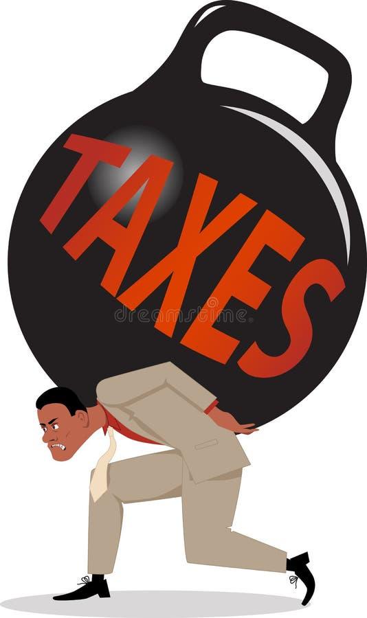 Тягота налогов иллюстрация штока