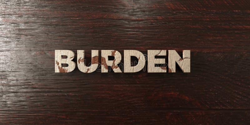 Тягота - grungy деревянный заголовок на клене - представленное 3D изображение неизрасходованного запаса королевской власти иллюстрация вектора