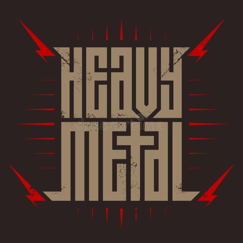 Тяжелый метал - зверский шрифт для ярлыков, заголовков, летчика концерта, плакатов музыки или печати футболки бесплатная иллюстрация