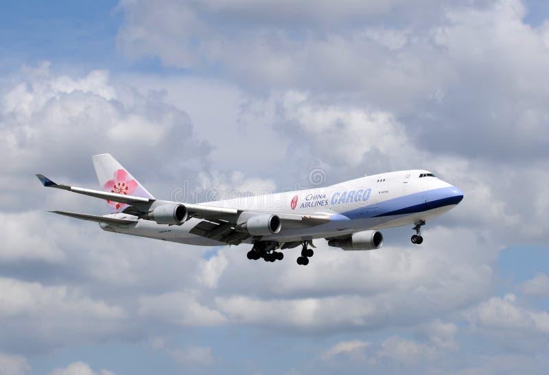 тяжелый реактивный самолет фарфора груза авиакомпаний стоковые изображения