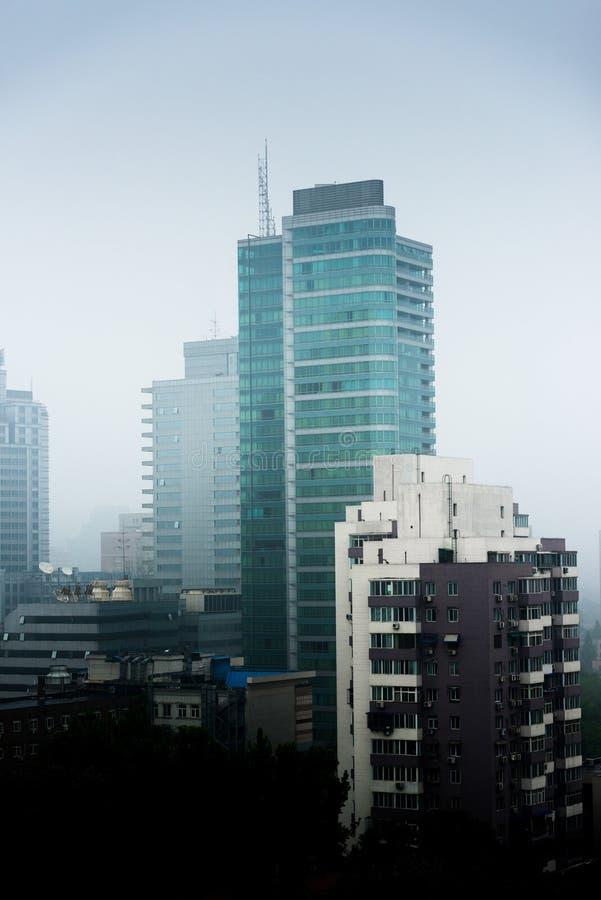 Тяжелый смог в Пекине стоковое фото
