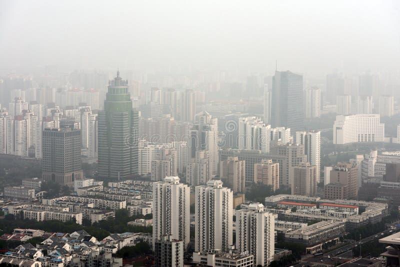 Тяжелый смог в Пекине стоковое изображение