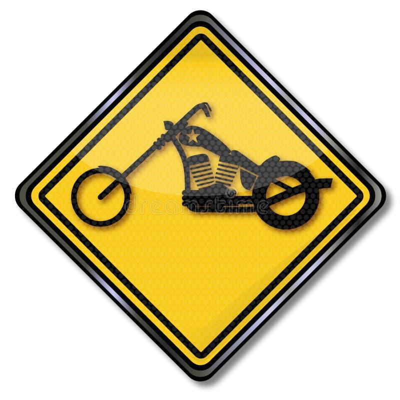 Тяпка и мотоциклы иллюстрация штока