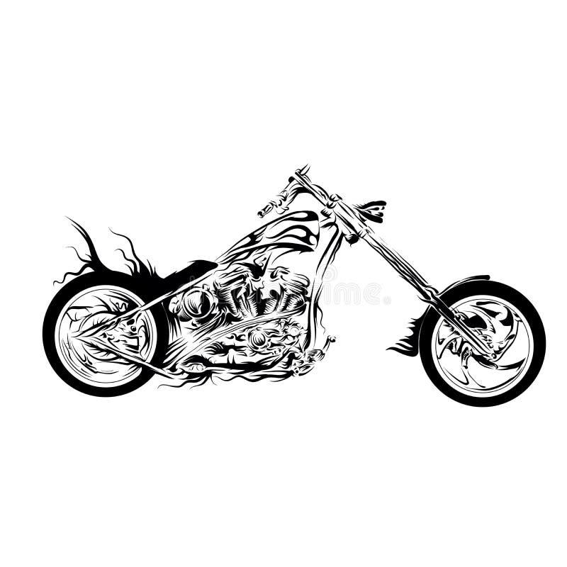Тяпка мотоцикла иллюстрация вектора
