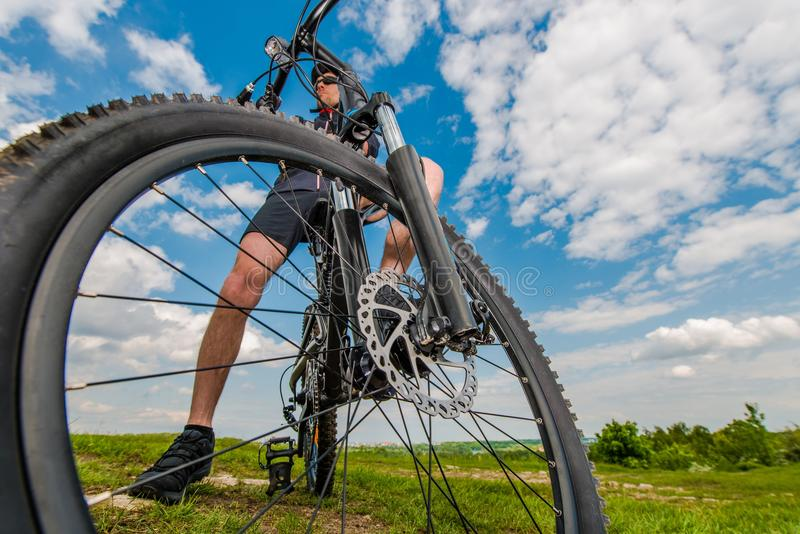 Убежище горного велосипеда стоковое фото